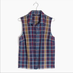 Madewell Moment Sleeveless Plaid Shirt